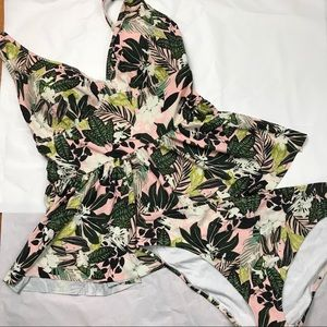Adore Me Swimsuit tankini set 3X New bottoms